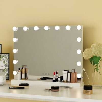 Hollywood Style Vanity Makeup Mirror With Touch Control Design LED Lights - Wayfair