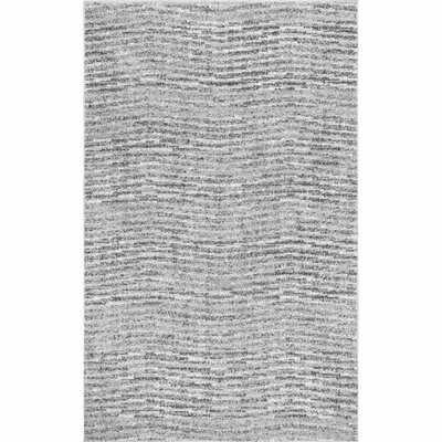Bismark Abstract Gray Area Rug - Wayfair
