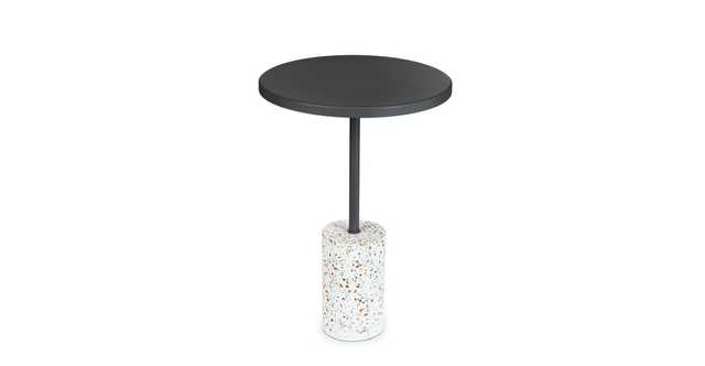 Narro Terrazzo Dark Gray Side Table - Article