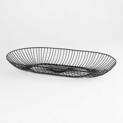 Harrison Oval Iron Basket - Crate and Barrel