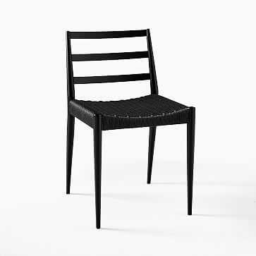 Holland Chair, Black, Black Cord - West Elm