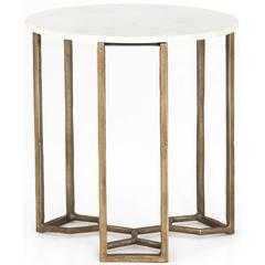 Naomi Marble End Table - High Fashion Home