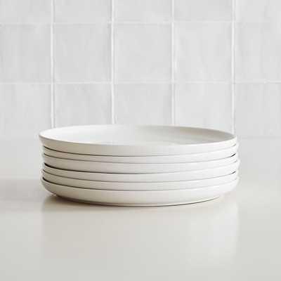 Dinnerware Stoneware, Dinner Plate, Stoneware, White, Set of 6 - West Elm