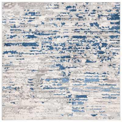 Safavieh Jasper Ivory/Blue 7 ft. x 7 ft. Square Area Rug - Home Depot