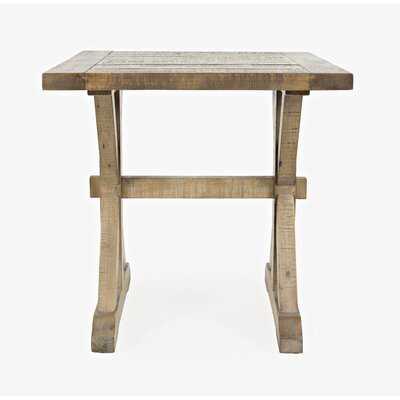 Mercato Solid Wood Trestle End Table - Wayfair