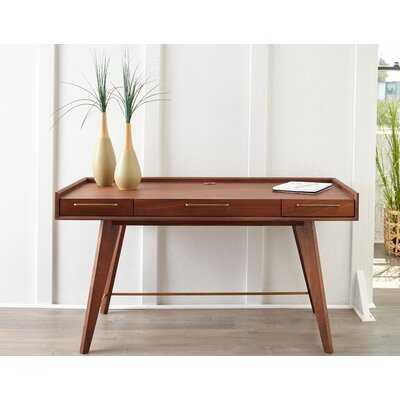 Alson Solid Wood Writing Desk - Wayfair