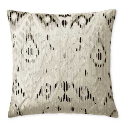 "Scalamandre Tashkent Pillow Cover, 22"" X 22"", Smoke - Williams Sonoma"