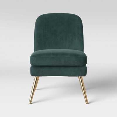 Wexner Modern Slipper Velvet Chair Emerald Green - Project 62 , Green Green - Target