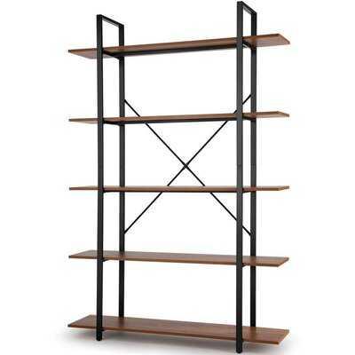 70.9'' H x 47.24'' W Metal Etagere Bookcase - Wayfair