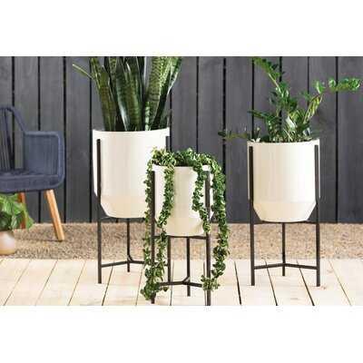 Dansby Tapered 3-Piece Iron Pot Planter Set - AllModern