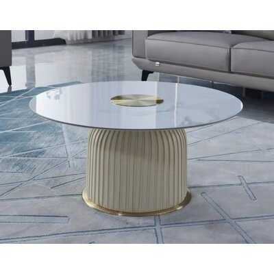 AE Furniture CT-W9306 Cream Coffee Table - Wayfair