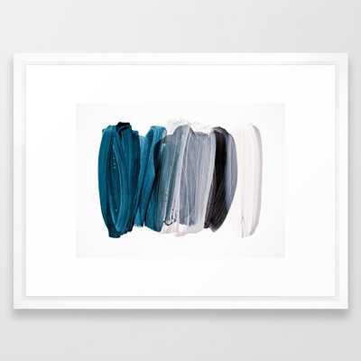 Minimalism 8-3 Framed Art Print by Iris Lehnhardt - Vector White - MEDIUM (Gallery)-20x26 - Society6