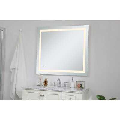 Langport Hardwired LED Lighted Bathroom Mirror - Wayfair