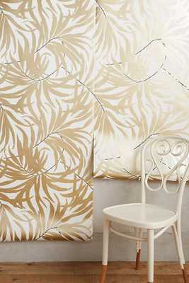 Frond Silhouette Wallpaper By Anthropologie in Brown Size S - Anthropologie
