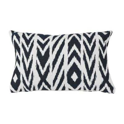 Daughtery Indoor / Outdoor Ikat Lumbar Pillow Cover - Wayfair