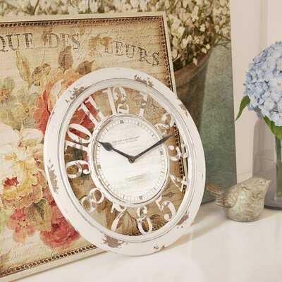 "Round Antique Contour 10"" Wall Clock - Wayfair"