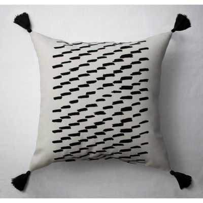 Goldpan Tuft Printed Throw Pillow Black/White - Project 62 - Target