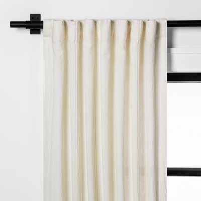 """108"""" Textured Curtain -Panel Sour Cream - Hearth & Hand with Magnolia - Target"""