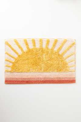 Sunbeam Bath Mat By Anthropologie in Yellow Size S - Anthropologie