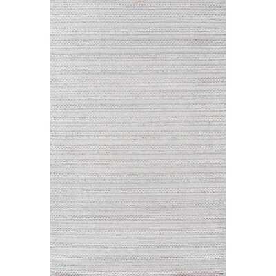 Elissa Striped Handmade Flatweave Light Gray Area Rug - Wayfair