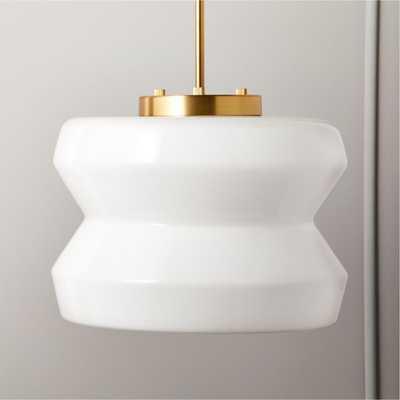 Century Milk Glass Pendant Light - CB2