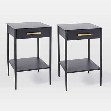 Metalwork Nightstand, Hot-Rolled Steel Finish, Antique Brass, Set of 2 - West Elm