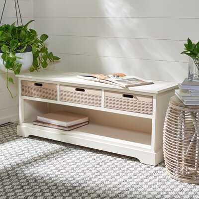Hauge Drawers Storage Bench - Wayfair
