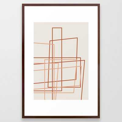 Tekton 01 Framed Art Print by The Old Art Studio - Conservation Walnut - LARGE (Gallery)-26x38 - Society6