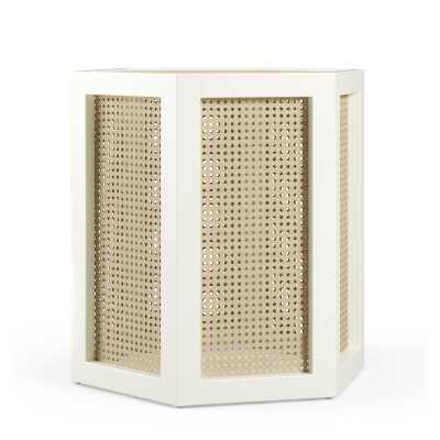 Maggie Cruz Home Dulce Accent Stool Frame Color: Simply White - Perigold