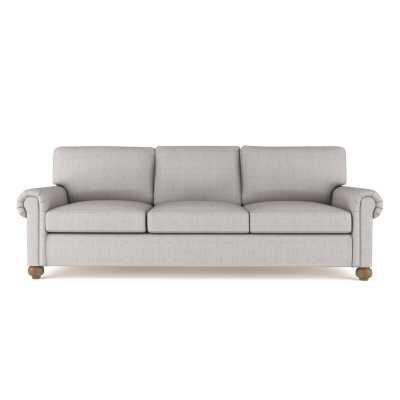"Tandem Arbor Walker Sofa Upholstery Color: Box Weave Linen Silver Streak, Size: 36"" H x 108"" W x 43"" D - Perigold"