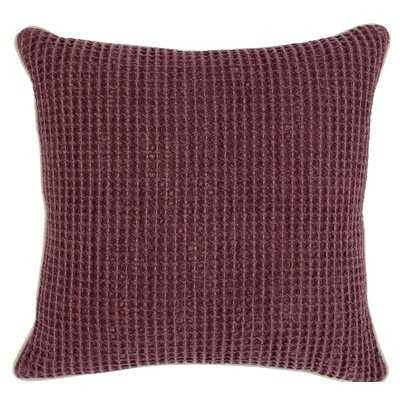 """Swofford Jasmine Waffle Weave Square 20"""" Throw Pillow - Birch Lane"""