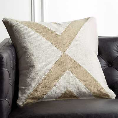 "23"" Xbase Natural Tonal Pillow with Down-Alternative Insert - CB2"