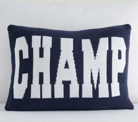 Champ Pillow, Lumbar, Navy Multi - Pottery Barn Kids