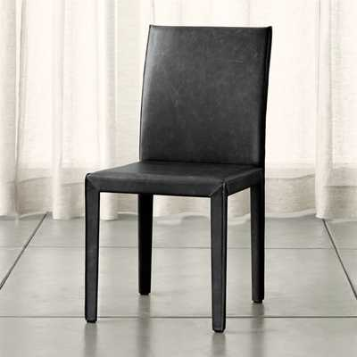 Folio Viola Top-Grain Leather Dining Chair - Crate and Barrel