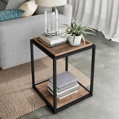 Rentz TrayTop Floor Shelf End Table with Storage - Wayfair