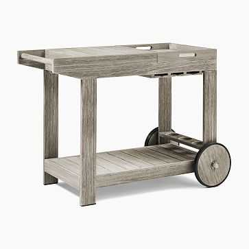 Portside Outdoor Bar Cart / Weathered Gray - West Elm