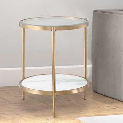 Oldene Glass Top 3 Legs End Table - Wayfair