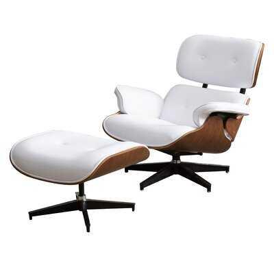 Landes 2 Piece Swivel Lounge Chair and Ottoman - Wayfair