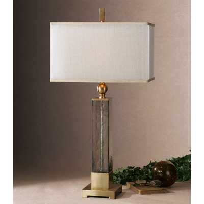 Caecilia Amber Glass Table Lamp - Hudsonhill Foundry