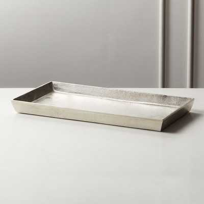 Silver Cast Aluminum Tray - CB2