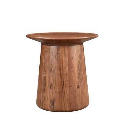 Sammie Solid Wood Pedestal End Table - AllModern