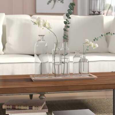 6 Piece Weside Clear Glass Table Vase Set - Wayfair
