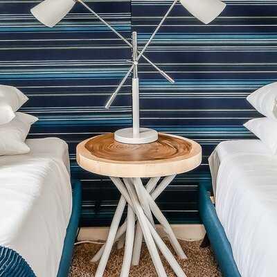 Rina Solid Wood Pedestal End Table - Wayfair
