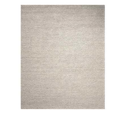Chunky Knit Sweater Rug, 8 x 10', Heathered Gray - Pottery Barn