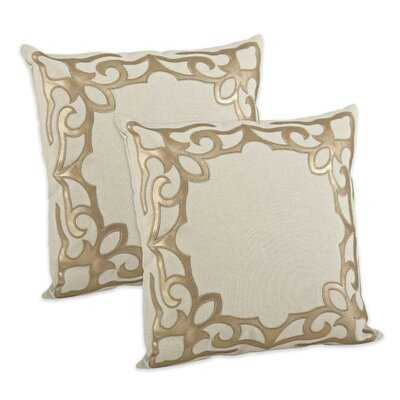 Faux Leather Cutwork Design Pillow Cover (Set Of 2) - Wayfair