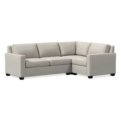 Henry Sectional Set 02: Corner, Left Arm Loveseat, Right Arm Chair, Twill, Stone, Chocolate, Poly, - West Elm
