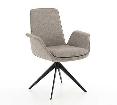 Holmes Desk Chair, Matte Black - Pottery Barn