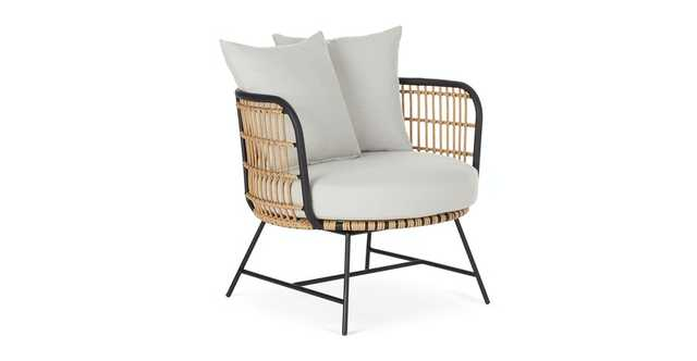 Onya Lily White Lounge Chair - Article