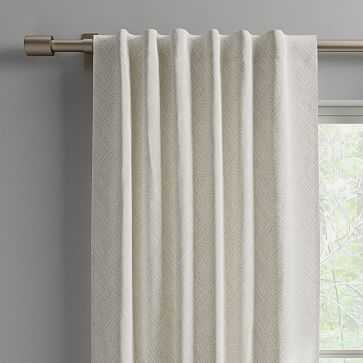 """Cotton Canvas Fragmented Lines Curtains, 48""""x96"""", Frost Gray (Set of 2) - West Elm"""