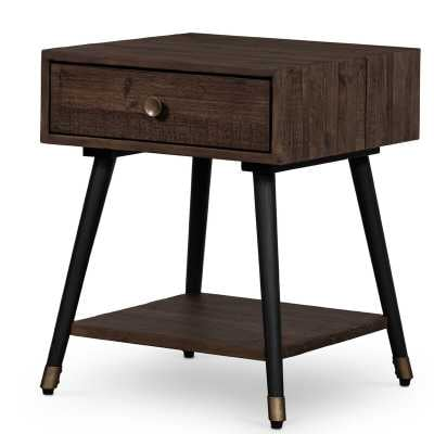 Four Hands Reclaimed Solid Wood End Table with Storage - Perigold